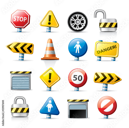 Traffic Icon Vector Vector Web Traffic Signs Icon