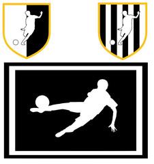 colori sociali calcio bianco nero