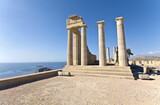 Ancient temple of Apollo at Lindos, Rhodes island, Greece