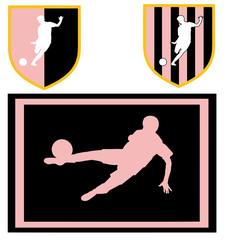 colori sociali calcio rosa nero