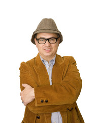 Man in Jacket and Glasses Arms Crossed