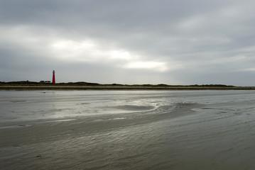 cloudy Schiermonnikoog beach