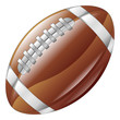 A shiny glossy american football ball icon