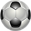 A shiny glossy football or soccer ball icon