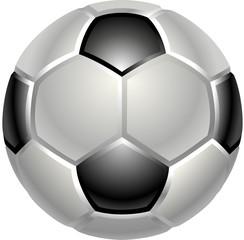 A shiny glossy football or soccer ball icon
