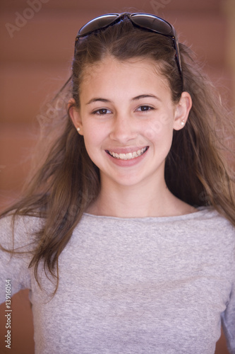 Portait of a young teen