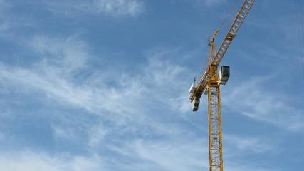 construction crane on sky