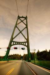 A bridge with traffic
