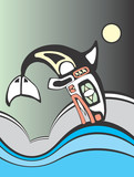 Diving Killer Whale poster