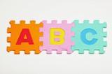 Alphabet foam pieces poster
