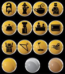 Round Hotel Icons