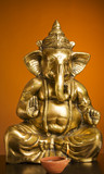 Golden Idol of Lord Ganesh Blessing Everyone poster
