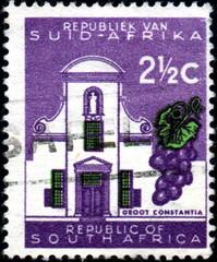 Afrique du Sud. Groot Constantia. Timbre postal.