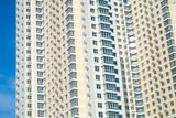 Condominium in urban area poster