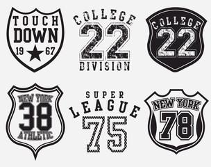 College Print Design Artwork \ Badge Applique Shape