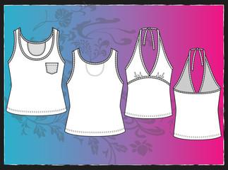 Fashion Clothing Shape \ Sleeveless T-Shirt