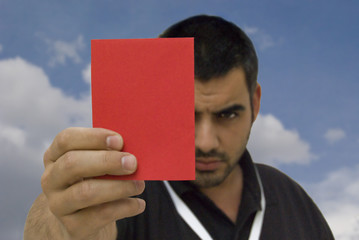 tarjeta roja cielo