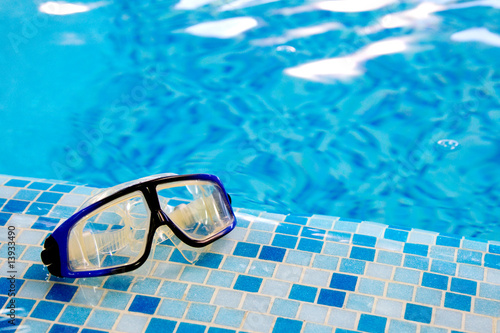 Swimming diving mask (goggles) - 13933490