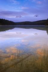 Reflections of Mount Fryatt and Whirlpool Peak at Leach Lake