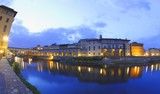 Arno River at Dusk Ponte Vecchio Florence Tuscany Italy poster