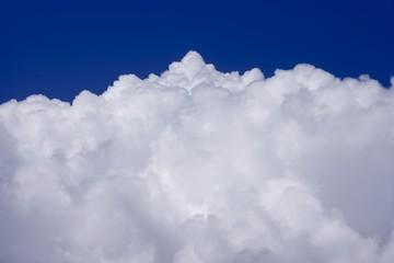 Closeup of clouds in the sky