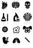Biology Black Icons poster