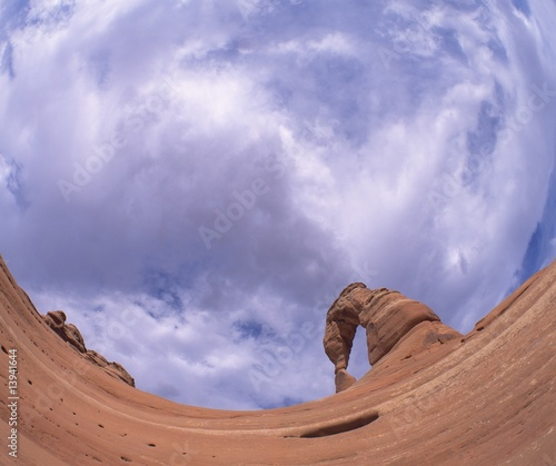 Unusual view of natural rock formation