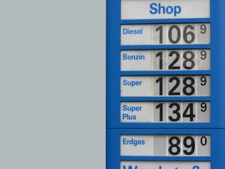Benzinpreistafel