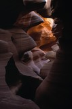 Sunlight and shadow in Upper Antelope slot canyon