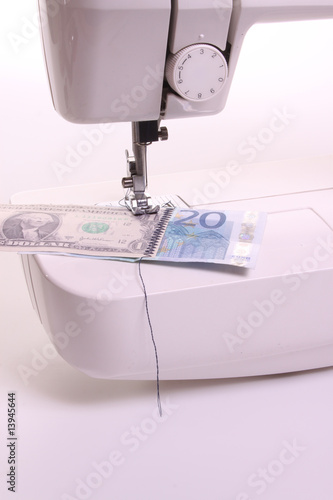 Sewing money machine