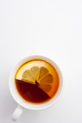 Cap of tea with lemon