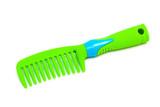 green plastic hairbrush poster