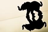 Silhouette of a elephant