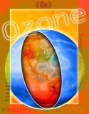 Ozone illustration poster
