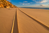 tracks on rainbow beach, australia - 13957023