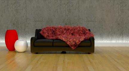 contemporary sofa in moderen setting
