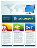 Techsupport brochure poster