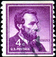 U.S Postage. Lincoln. Timbre postal.