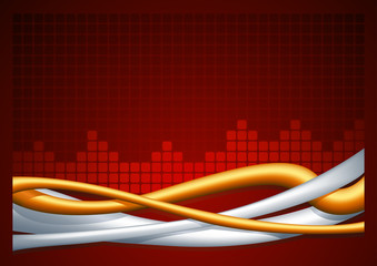 Abstract wire red horizontal background.