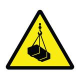 Hazard Warning Sign Overhead Crane poster