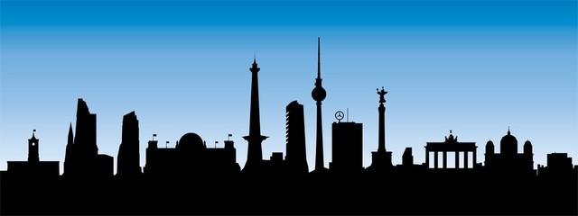 Berlin Skyline Blau/Schwarz