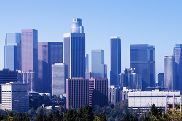 Los Angeles Skyline in Morning