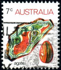 Australia. Agate. Timbre postal.
