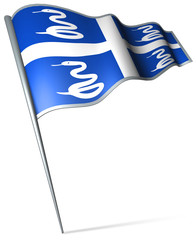 Flag pin - Martinique