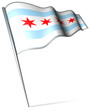 Flag pin - Chicago