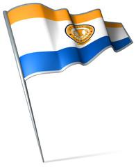 Flag pin - San Jose, California