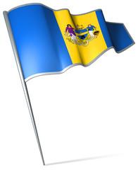 Flag pin - Philadelphia