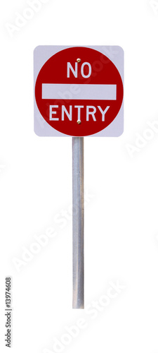 Reflective No Entry Sign