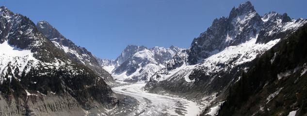 Panorama Mer de Glace et sommets Alpes
