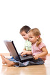 Kids using laptops